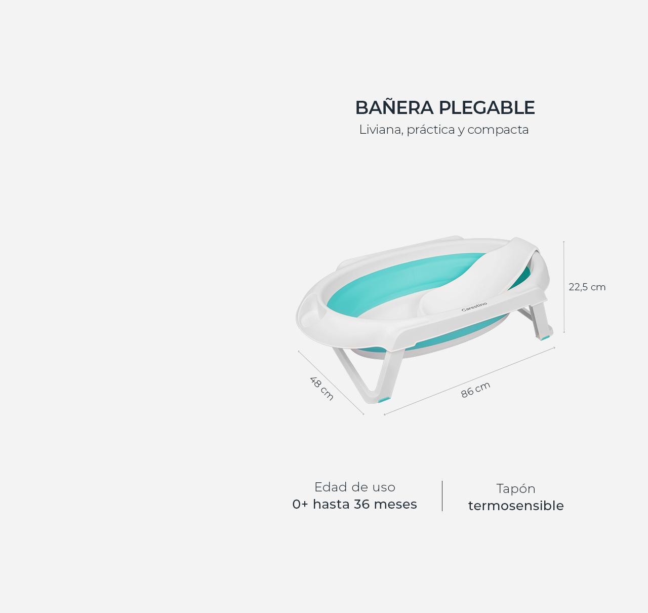 Bañera Plegable con Soporte Aguamarina imagen 11