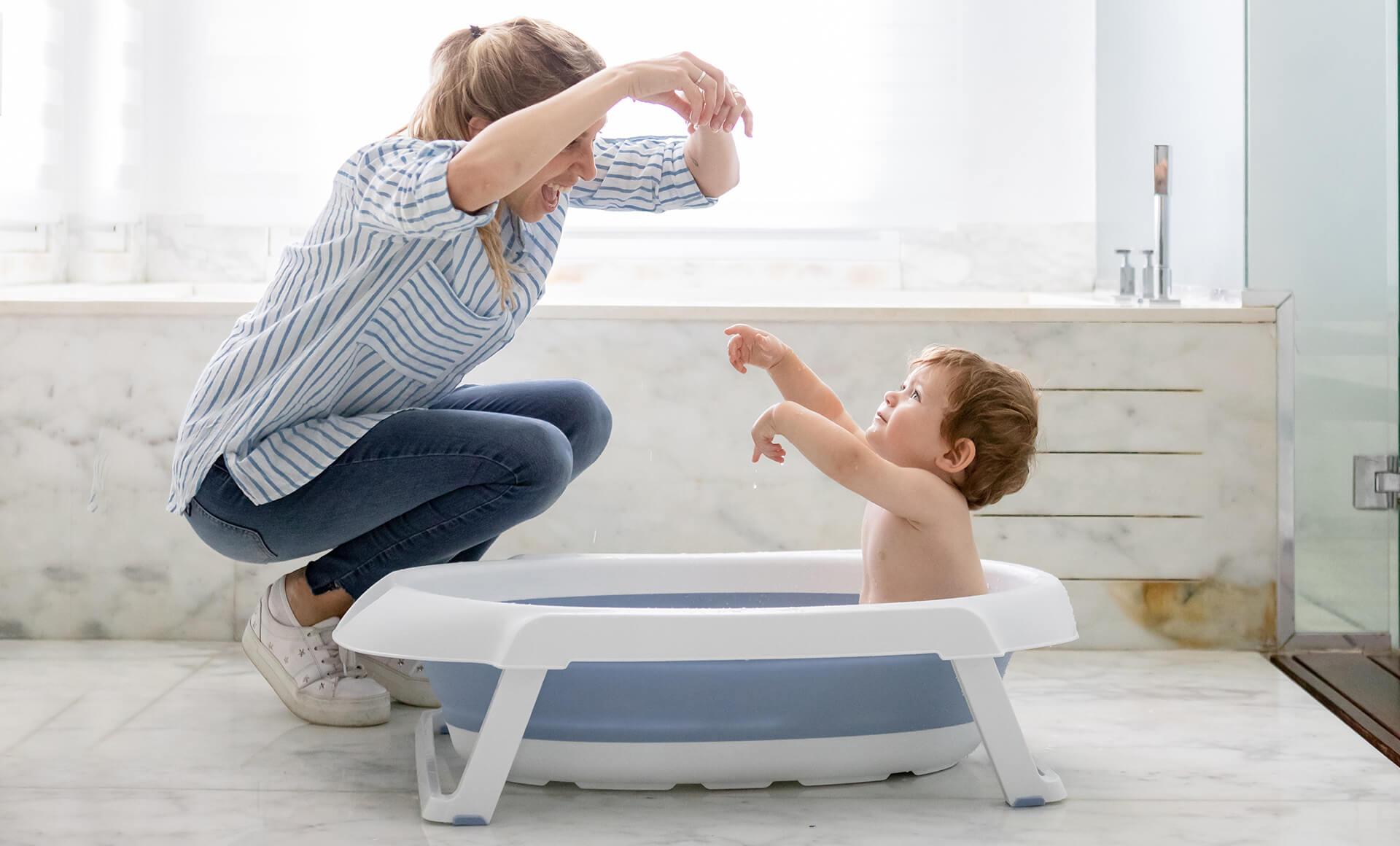 Bañera Plegable con Soporte Rosa imagen 6