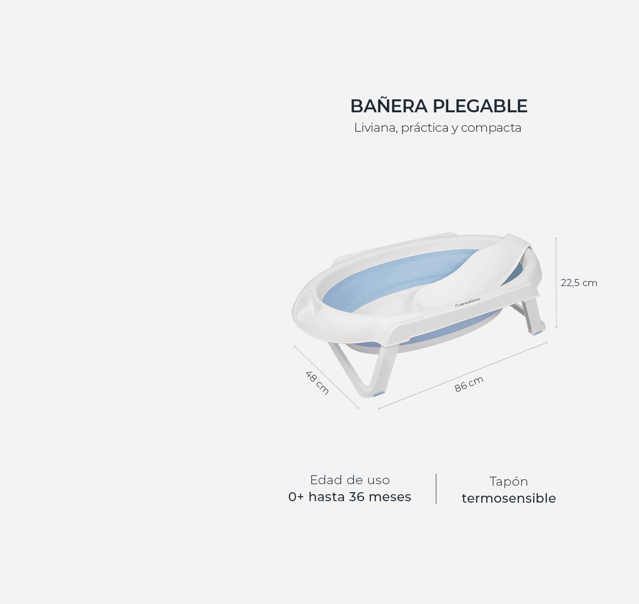 Bañera Plegable con Soporte Rosa imagen 11