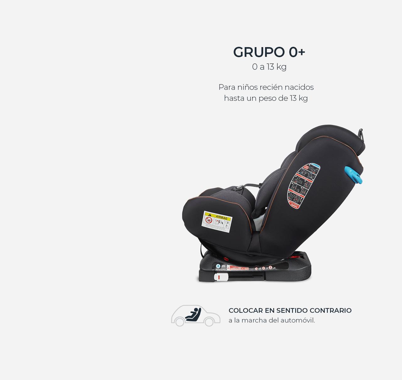 Silla de auto DENVER 360º GRUPO 0/I/II/III ISOFIX Negro imagen 11