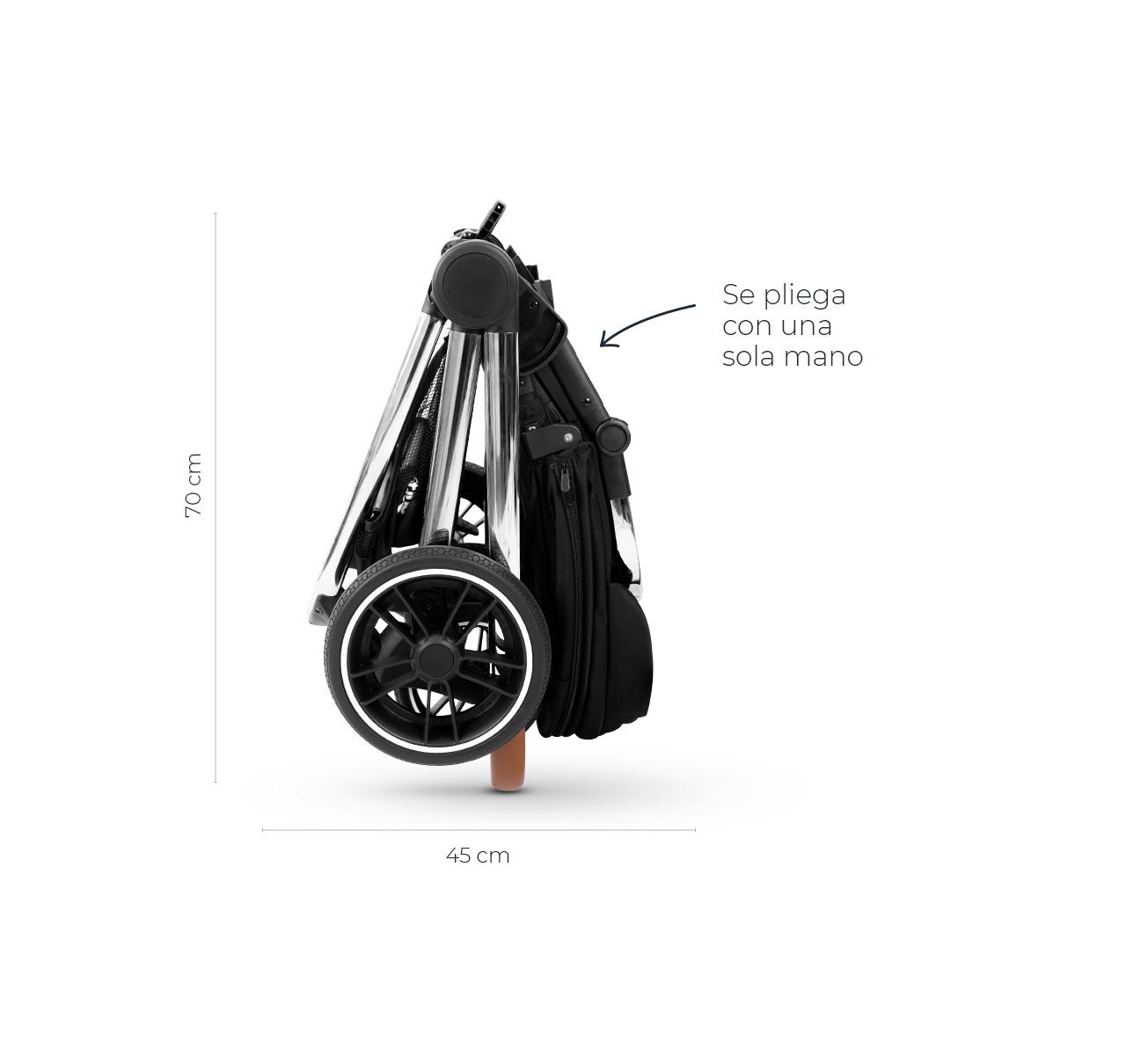Cochecito BEVERLY v2 con Accesorios Negro imagen 18