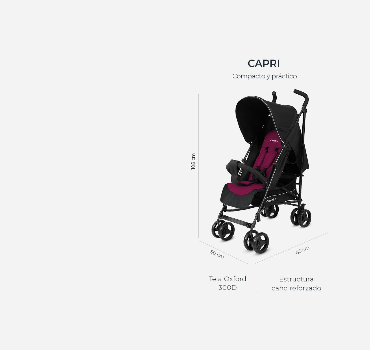 Cochecito CAPRI Gris melange imagen 12
