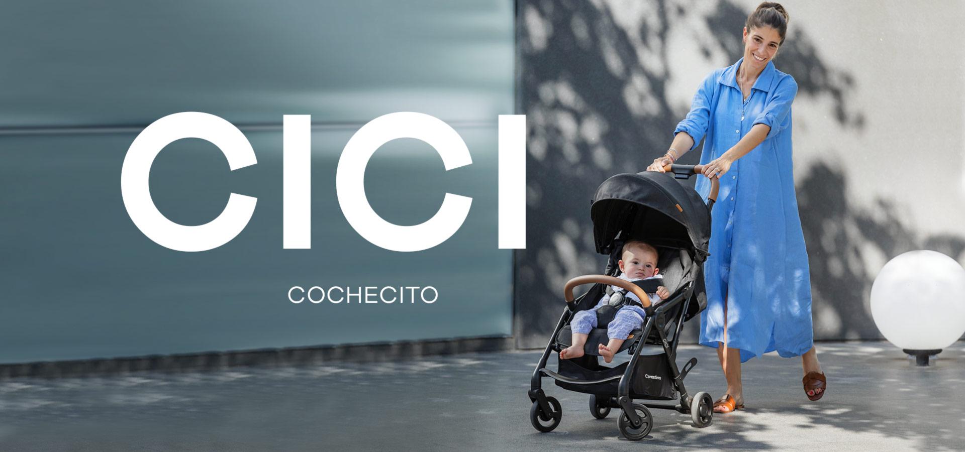 Cochecito CICI con Accesorios Negro Melange imagen 5