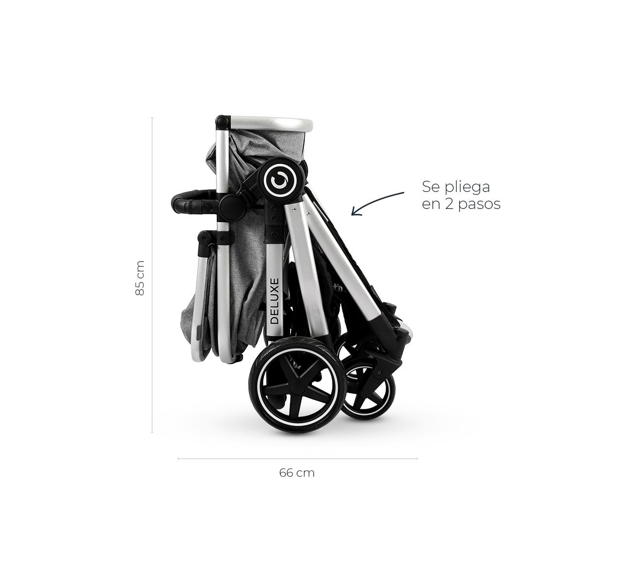 Cochecito DELUXE v2 Accesorios Gris imagen 21