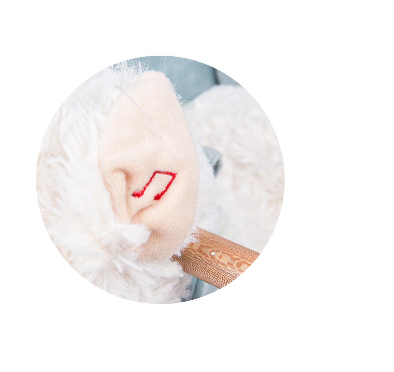 Mecedor Peluche Caballo blanco imagen 12