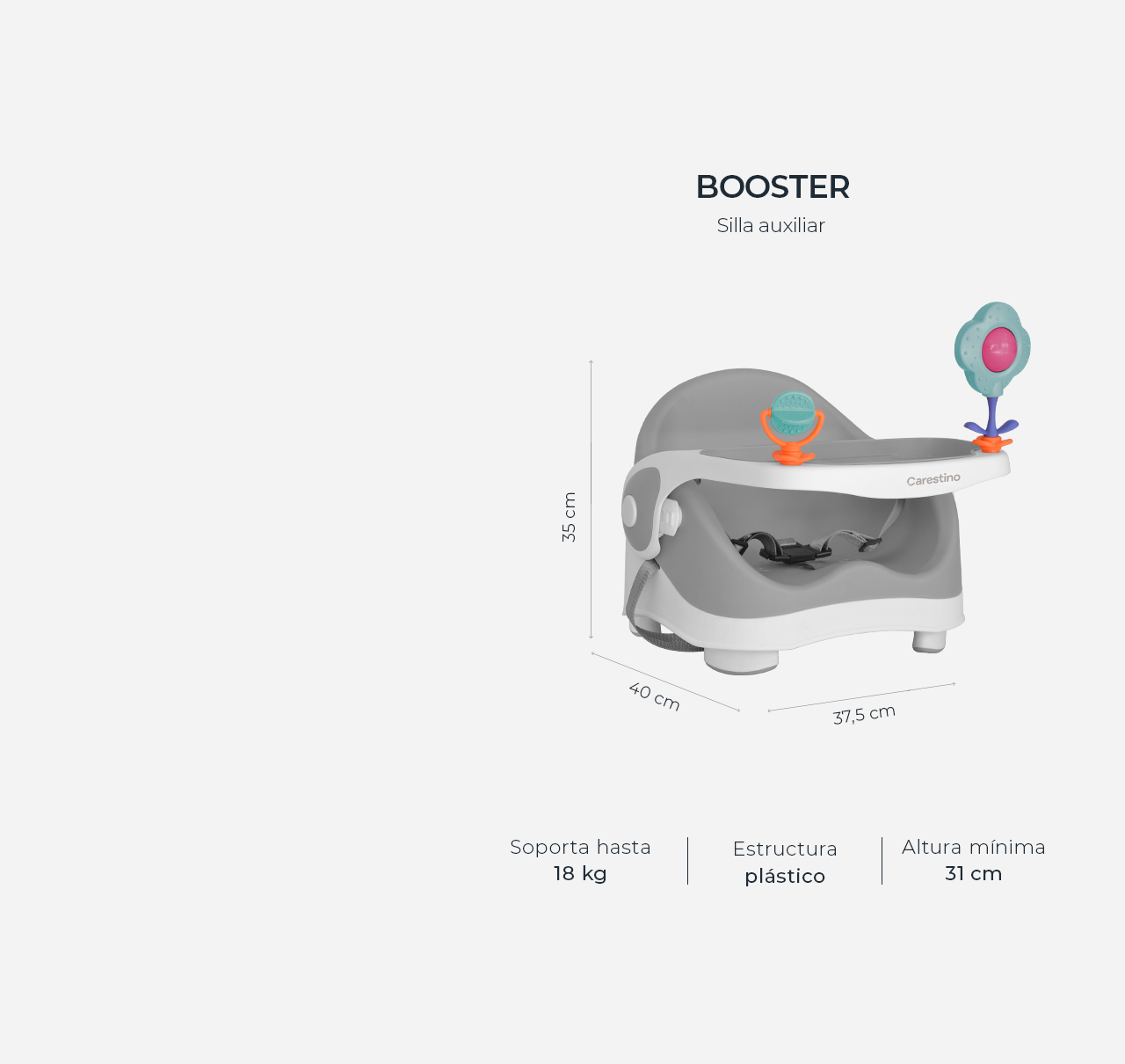 Silla de Comer Booster Gris imagen 14