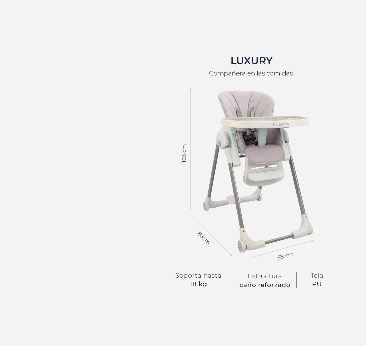 Silla de Comer Luxury Mora imagen 15